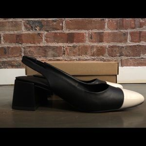 Black & White Slingback Shoes